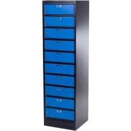 """Laptop locker 17"""" (zwart/blauw)"""