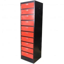 "Laptop locker 17"" (zwart/rood)"