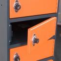"Laptoplocker 15"" met cijferslot (grijs/oranje)"